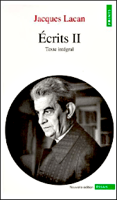 Titelseite von: Jacques Lacan: Écrits II. Texte intégral. Seuil 1999