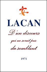 Jacques Lacan, Seminar 18, D'un discours qui ne serait pas du semlant, Version Staferla,Titelseite