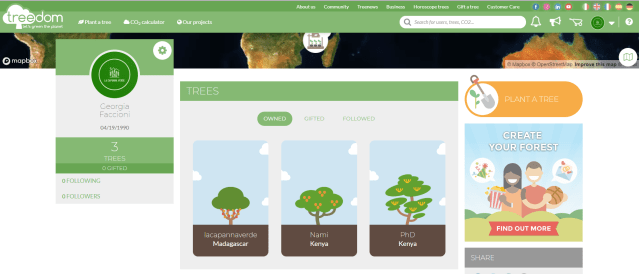 our blog's trees