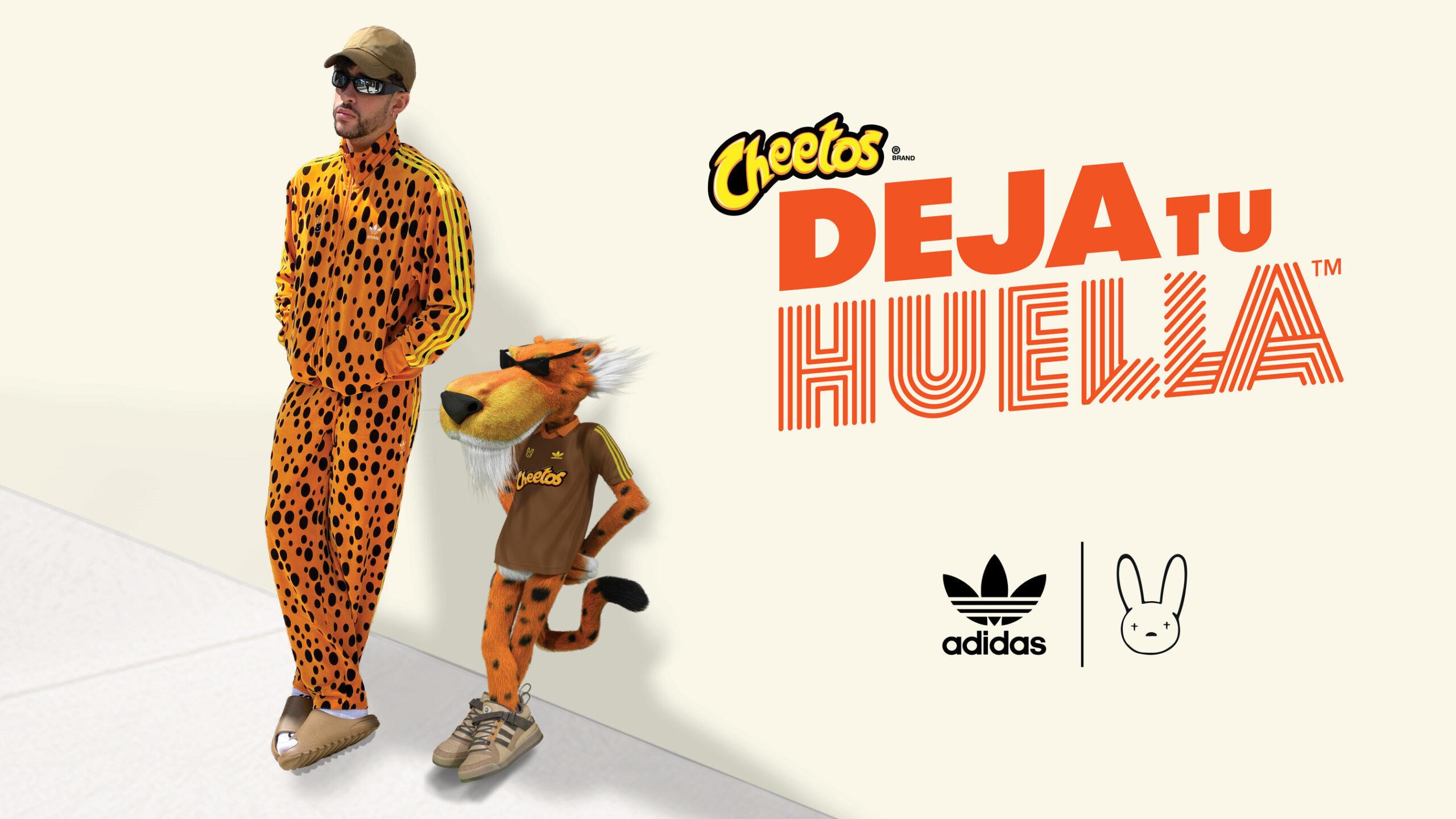 Cheetos y Bad Bunny lanzan exclusiva colección de moda junto a Adidas, invitando a fans a Dejar su Huella