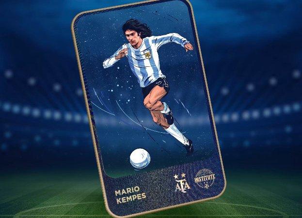 La Asociación Argentina de Fútbol ha lanzado una colección de NFT con todos sus jugadores legendarios