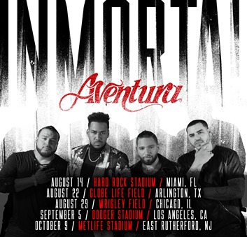 """Los Reyes de la Bachata """"Aventura"""" se convierten en el primer evento latino en hacer """"Sold Out"""" en el Hard Rock Stadium en Miami.FL"""