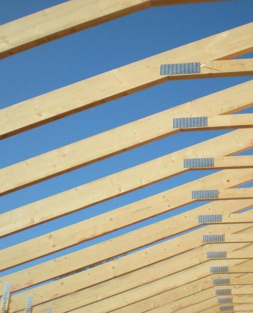 maderas para techos tirantes