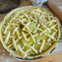 Tarte courgette raclette