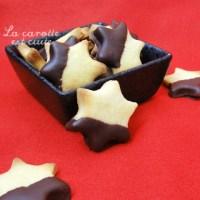 Sablés nappés de chocolat