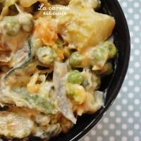 Curry de patates douces, pommes de terre, courgettes et petits pois