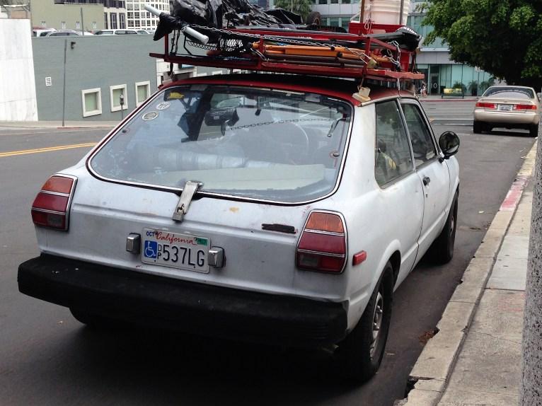1980 toyota tercel hatchback la car spotting. Black Bedroom Furniture Sets. Home Design Ideas