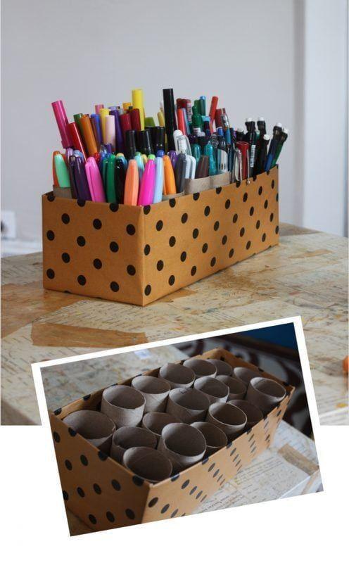 Cómo organizar tu escritorio y los bolígrafos