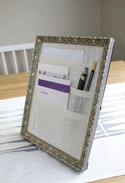 Cómo organizar tu escritorio con un marco de fotos