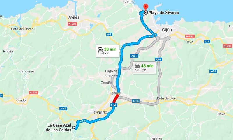 Mejores Playas de Asturias - Playa de Xivares desde Las Caldas de Oviedo