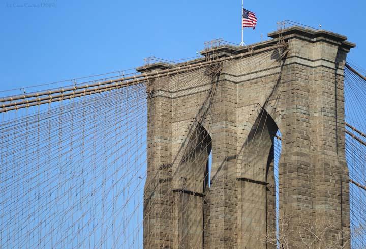 {New York City} Brooklyn Bridge et le Musée de l'Intrepid
