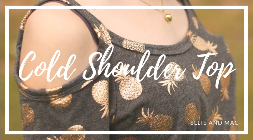 Ellie and Mac's Cold Shoulder Top