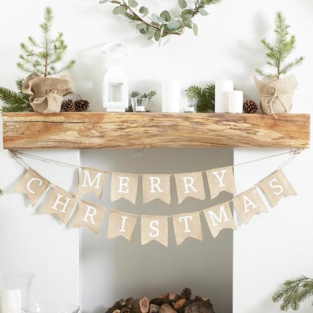 Noël Christmas jute bunting