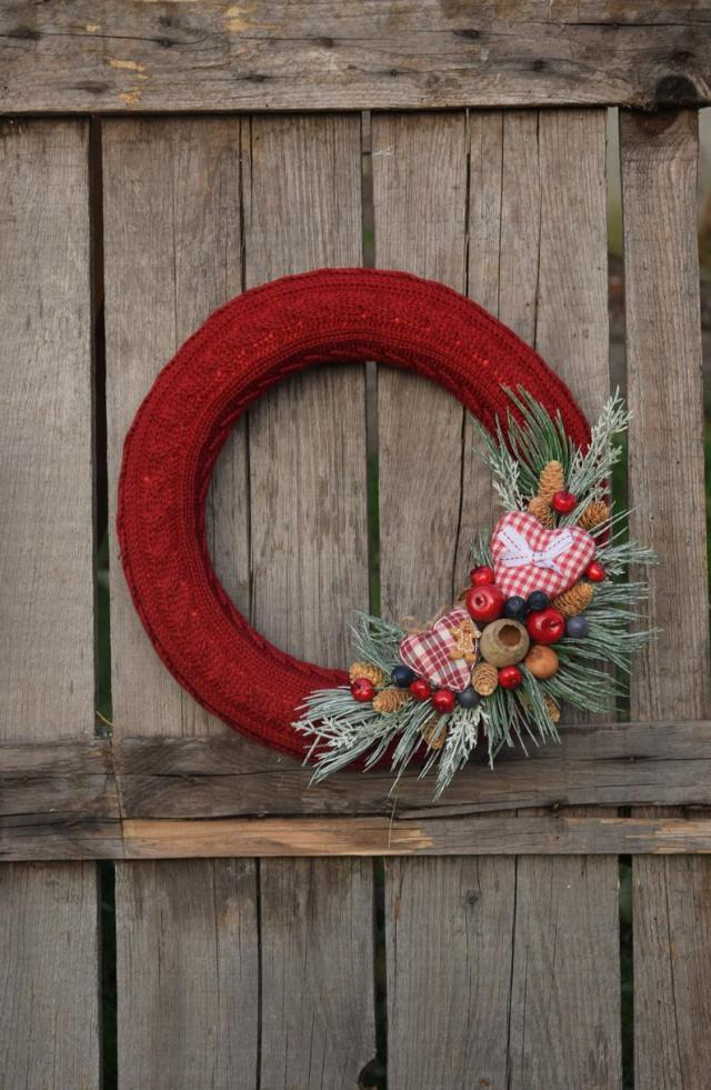 Etsy wreath couronne