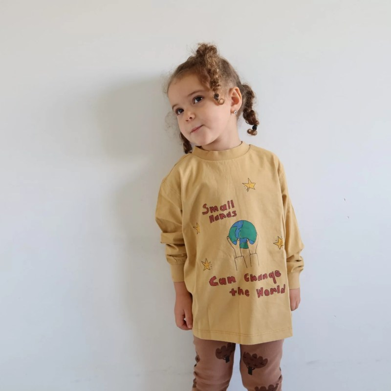 Small hands long sleeve t-shirt Jelly Mallow