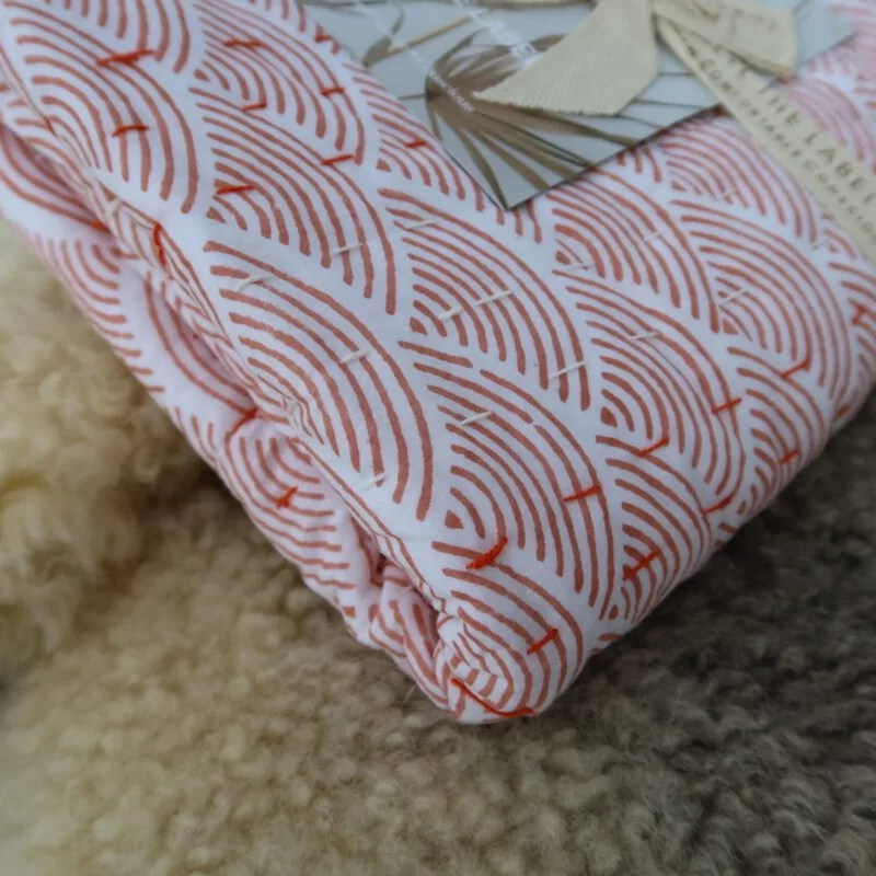 Couverture Rainbow Kantha Blanket Lion and Lamb the label