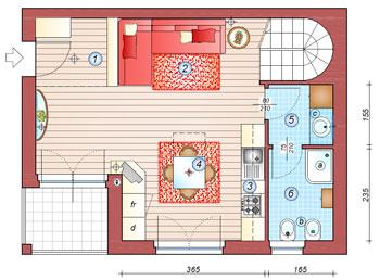 cucina soggiorno open space 10 mq. Trasformare Un Open Space Di 36 Mq La Casa Giusta