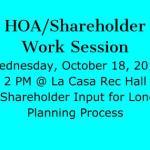 HOA Shareholder Work Session October 18, 2017