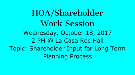 Shareholder work session notice