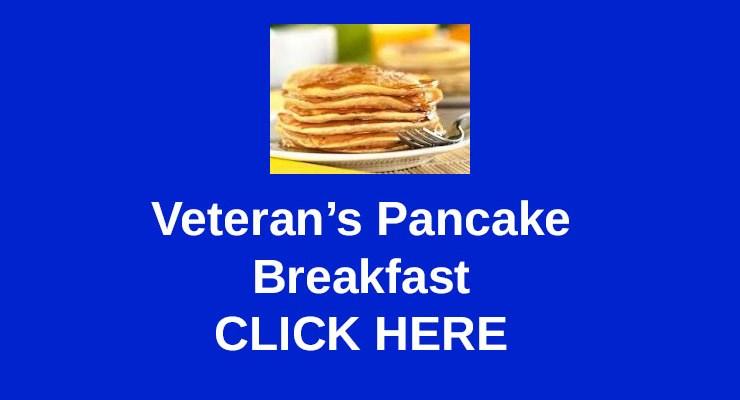 Veteran's Pancake Breakfast – Feb 10, 2018