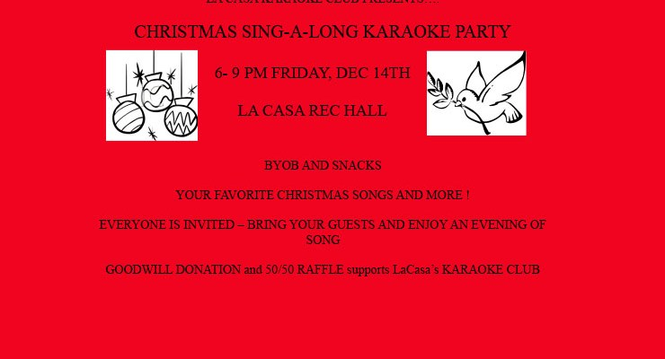 Christmas Karaoke Party – Dec. 14, 2018