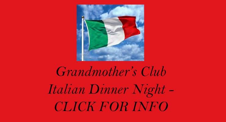Grandmother's Club Italian Dinner & Dance – 1/25/2020