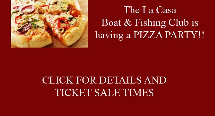 Boat Club Annual Pizza Party – February 10, 2020