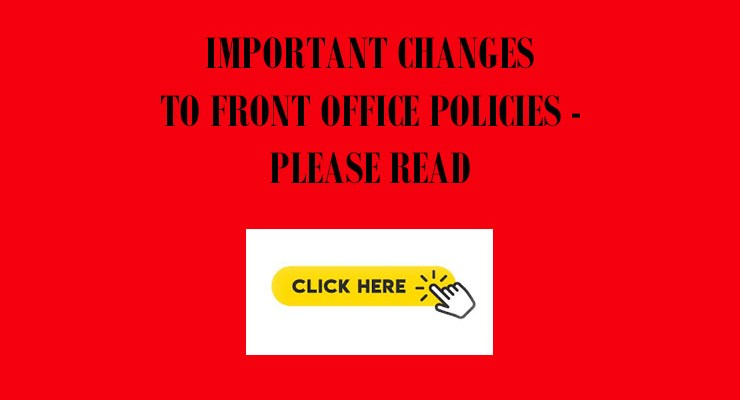 Front Office Policy Changes – March 19, 2020