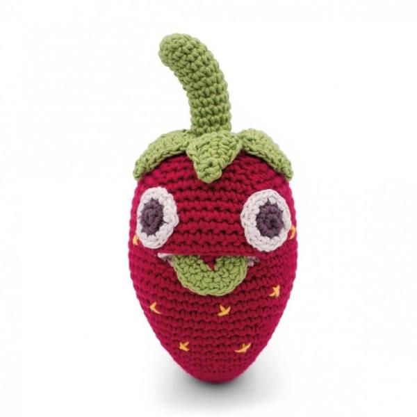 Billy la fraise Hochet pour bébé coton bio Myum
