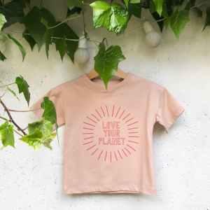 love your planet rose t-shirt bio