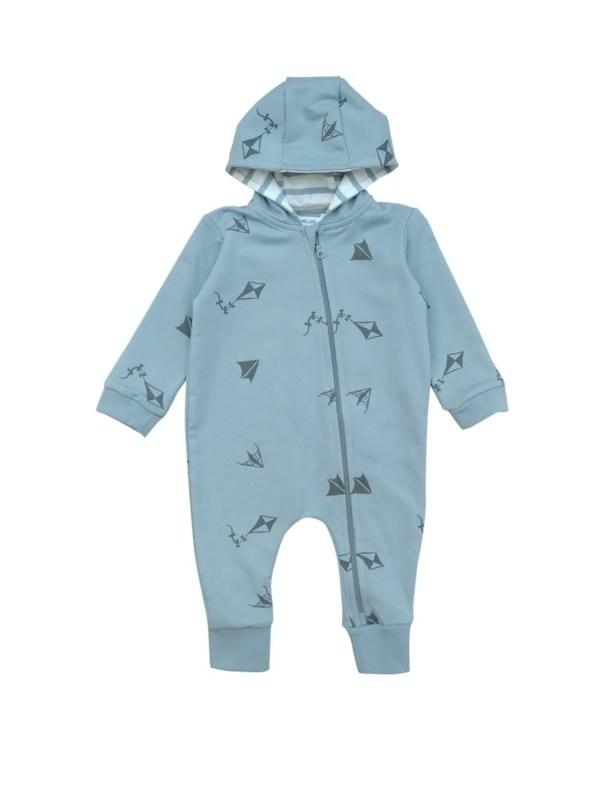 combinaison bébé avec capuche coton bio