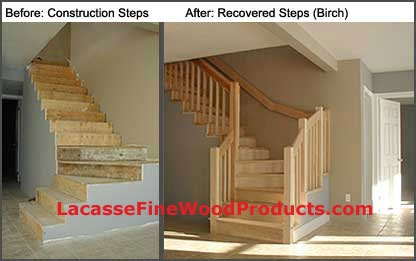 Lacasse Hardwood Stair Treads Made On Custom Order   Stairs Made Of Wood   5 Step   Elegant   Solid Oak   Traditional   3 Step