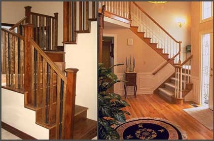 Lacasse Custom Wood And Metal Spindles Railings | Wooden Handrails For Steps | Iron | Different Kind Wood | Wood Patio | Rustic | Staircase Wooden