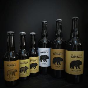 Bières en bouteilles de la Brasserie Baribale
