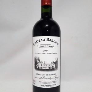 Château Bardins Pessac-léognan rouge 2014