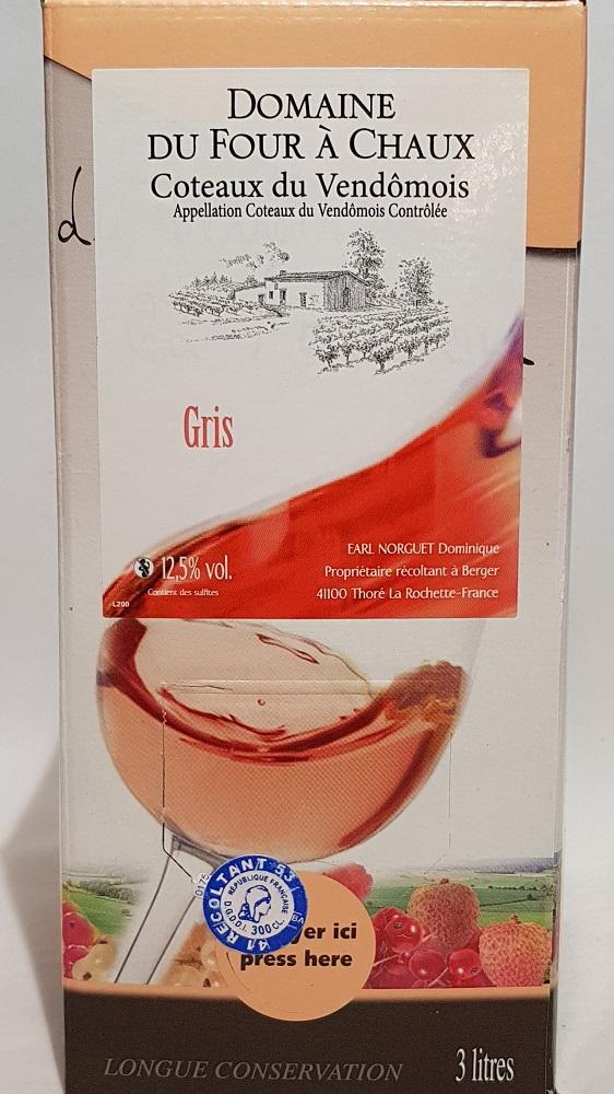 Coteaux du Vendômois rosé Gris 3 litres