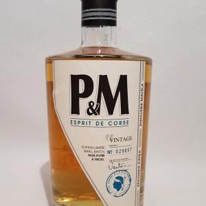 P & M single malt Corsican Whisky