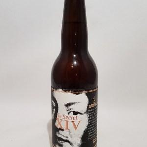 Le Secret de XIV; bière locale de la Brasserie Bacquet et Cie 33 cl