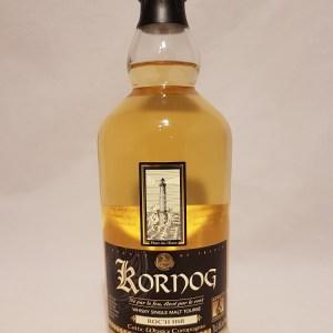 Whisky produit en Bretagne Single malt tourbé KORNOG ROC'H HIR année 19 46%