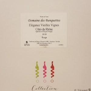Côtes du Rhône Domaine des Banquettes rouge 5 litres