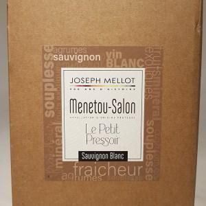 Menetou Salon blanc Bib 5 litres Le petit pressoir Joseph Mellot 2018
