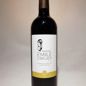 Domaine Emile Grelier Bordeaux supérieur 2016 BIO VEGAN AGROFORESTERIE