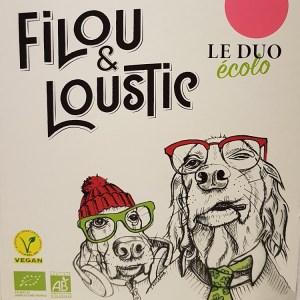 Cubi 3 litres Filou et Loustic le duo écolo rosé BIO VEGAN