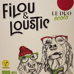 Cubi 3 litres Filou et Loustic le duo écolo rouge BIO VEGAN