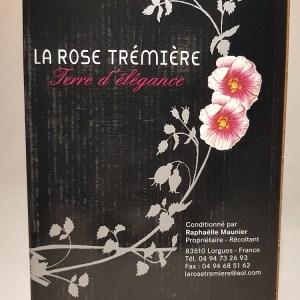 Cubi 5 litres Côtes de Provence Rosé Domaine de la rose trémière