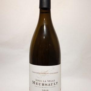 Meursault blanc Domaine Violot Guillemard » sous la velle» 2019