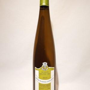 Vendanges tardives Gewurztraminer Alsace grand cru Zinnkoepfle Rominger 2015 BIO