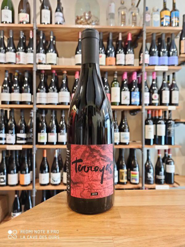 Terroyas red wine bottle