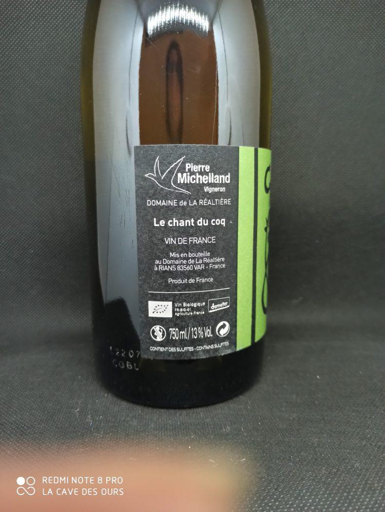 close up label side
