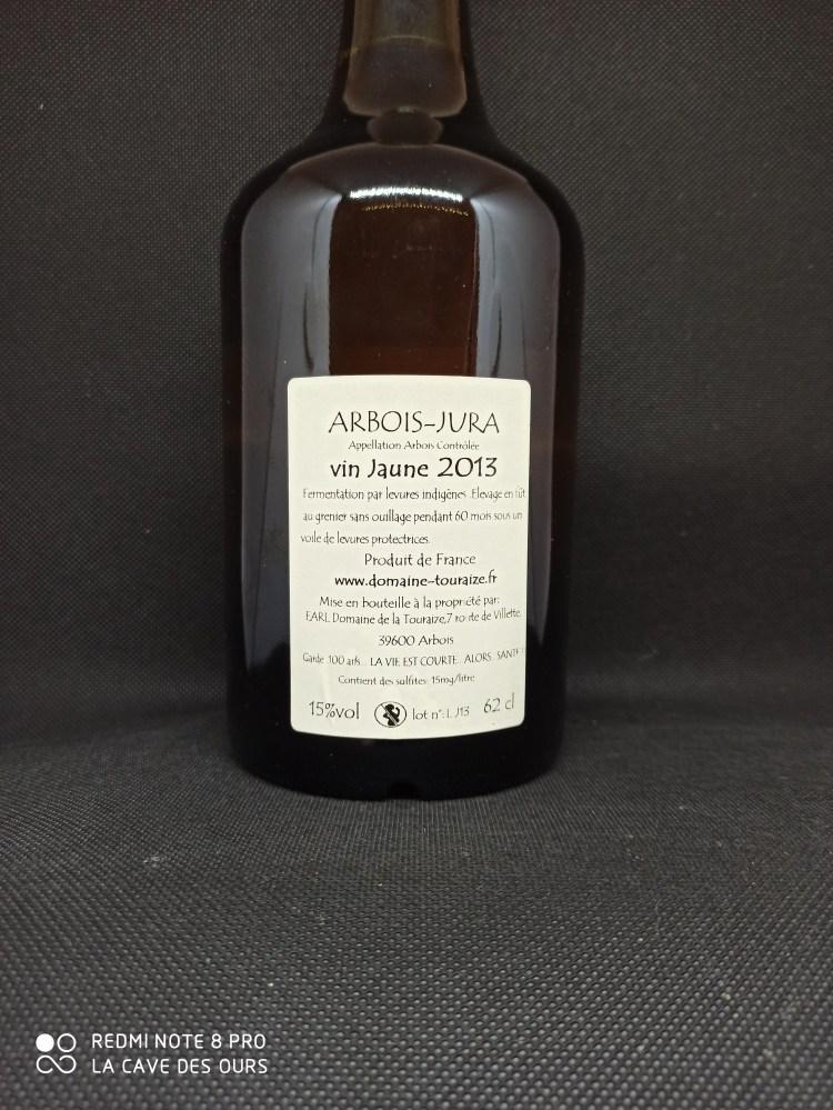 back label of vin jaune